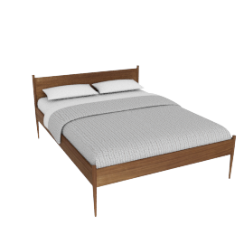 Cove Queen Bed, Walnut