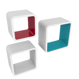 Cosmos Pop Wall Cube - Set of 3