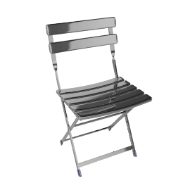 Arc En Ciel Folding Chair - Aluminum