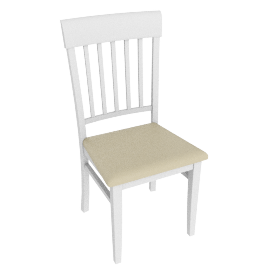 Alba Slat Back Dining Chair, Soft Grey/Oak