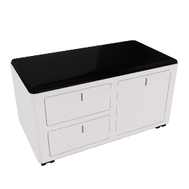 cBox File and Drawers - White