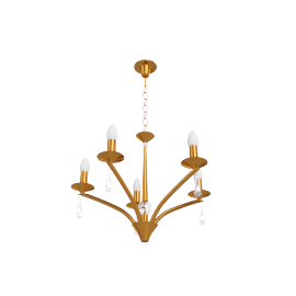 Madison Ceiling Light, 5 Arm, Gold