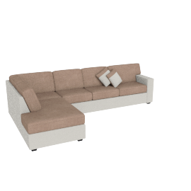 Jumbo Corner Sofa Left Salak And Taupe