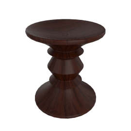 Eames Walnut Stool - C
