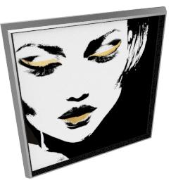 Glam Rock VII by KelliEllis - 30''x30'', Silver