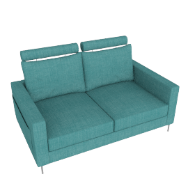 Stanley 2 Seater Turquoise Blue