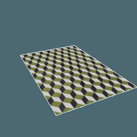 Ravello Flatweave-6' x 9' - Green.Charcoal
