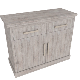Chevron 2-Drawer Dresser