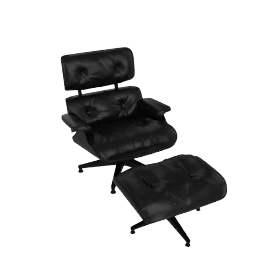 All-Black Eames Lounge and Ottoman