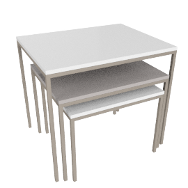Venus Nest of Table, HG Wht/Grey