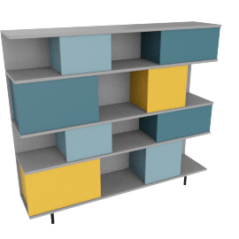 Fowler large shelving unit, multicolor