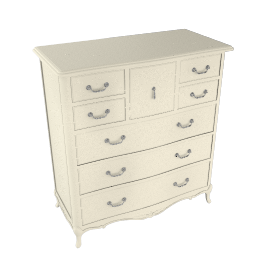 Rose 8 Drawer Chest, Ivory