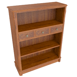 Hemingway Bookcase With Drawer