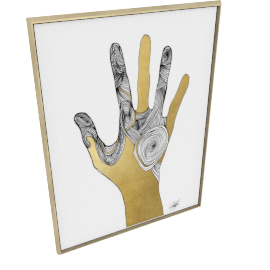 Sign Language I by KelliEllis - 54''x72'', Gold