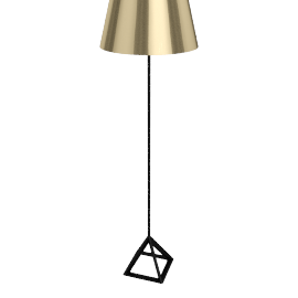 Tom Dixon Base Light Floor Light, polished brass