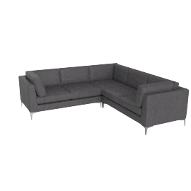 Albert Corner Sectional in Vienna Leather - Slate