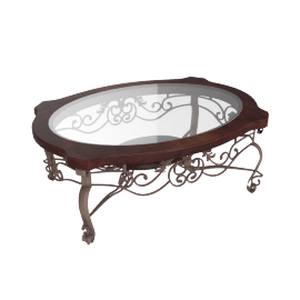 Itasca Oval Cocktail Table, Bronze