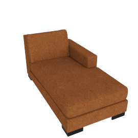 Signature Chaise Right, Orange