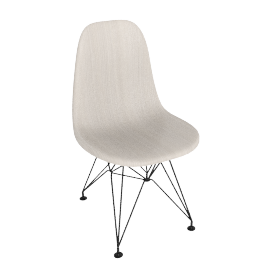 Eames Molded Wood Side Chair, Black Base