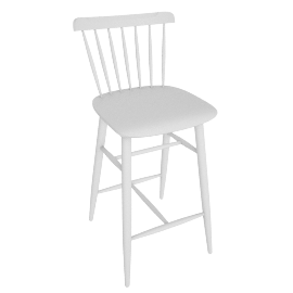 Salt Counter Stool, White