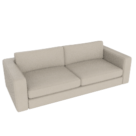 "Reid 86"" Sofa in leather, ivory"