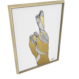 Sign Language X by KelliEllis - 30''x40'', Gold
