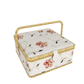 Odette Rectangular Sewing Basket, Floral