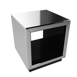 John Lewis Astoria Mirrored Cube Side Table