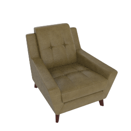 G Plan Vintage The Fifty Three Leather Armchair, Olive Green