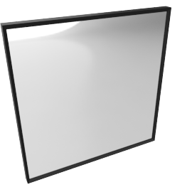 Mondrian Mirror 22'' x 22'', Black