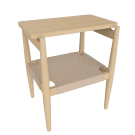 Risom Side Table, Oak/Natural