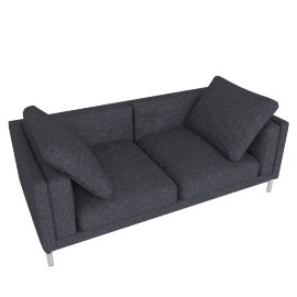 "Como 80"" Sofa in Fabric, Lama Tweed, Coal"