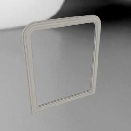 Brissi Hampshire Mirror, Plaster Grey, H120 x W100cm