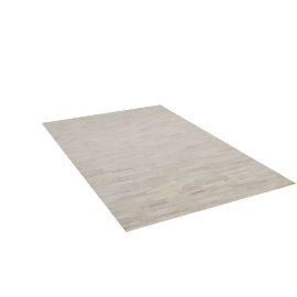 Thin Strip Cowhide Rug, 5'x8'