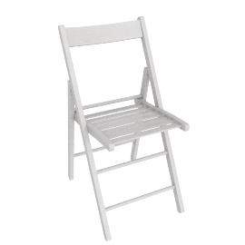 Buiani Folding Chair, White