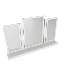 Louis Gallery Rectangular Mirrors with Stand