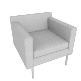 Theatre Armchair, Soft Weave Fabric, Smoke