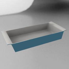 Ceramic Rectangular Dish, Blue, L32cm