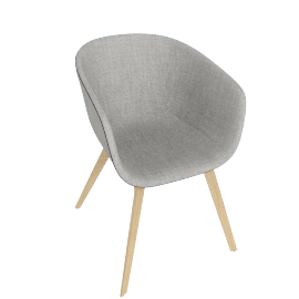 About A Chair 23 Armchair, Upholstered , Remix 0123 Light Grey / Oak