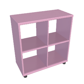 Box Four Cube Unit, Pink