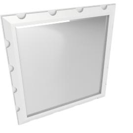 Taj Buffet Mirror-Pear White