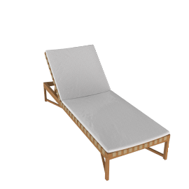 Rusa Adjustable Chaise Lounge - Teak