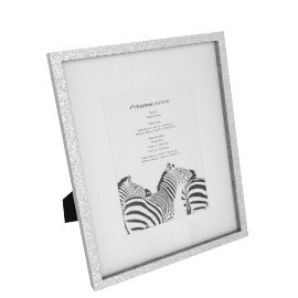 Gloria Photo Frame Matted - 8x10 inches, Silver