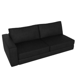 Reid One-Arm Sofa in Leather, left