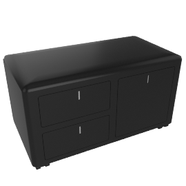 cBox File and Drawers - Black