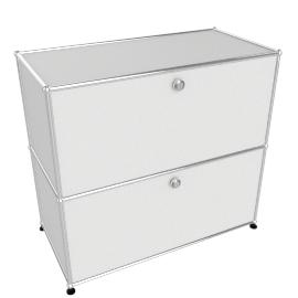 USM Haller Half File Credenza, White