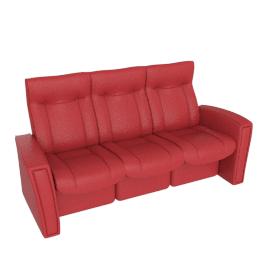 Gemini Reclining Large Sofa, Cranberry
