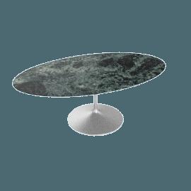 Saarinen Oval Dining Table 78'', Coated Marble 2 - Plt.VerdeAlpi