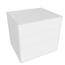 Lauki Bedside Table, White