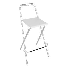 Verona Folding Bar Chair, White